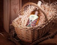 delight wine label design