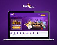 """""""Royal Spinz"""" online casino brand"""