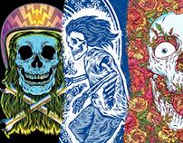 skulls skates, surf, rock and roll