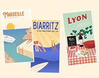 Vintage postcards - Tapage