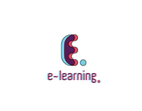 3d logo- e learning