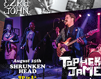Poster for Topher James and Biscuit Brigade