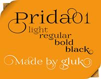 Free font family Prida01