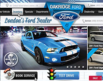 Website Design Automotive Ford | UI | UX