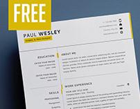 Resume Template 2 Page PSD - FREE