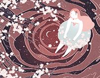 『水中月』