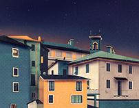 Castles at Night | Digital Art