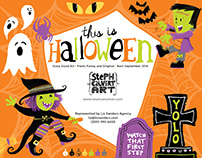 This is Halloween collection for art licensing