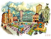 Cityscapes of Curitiba