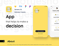Yes or not app product design