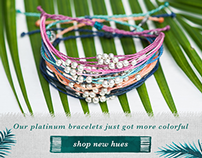 New Platinum Beaded Pura Vida Bracelets