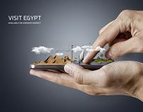 Visit Egypt .. Creative poster design