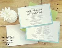 Gian & Sabrina Wedding Invitation Suite