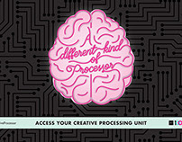 Access Your Creative Processing Unit AIGA Campaign