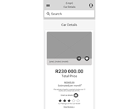 WesBank Fast Track - Lo-Fi Wireframes in Sketch