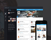 Social Network - Responsive Website