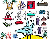 Anubis dibujos variados