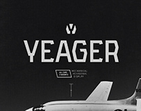 YEAGER - FREE MECHANICAL DISPLAY TYPEFACE
