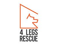 4 Legs Rescue Logo Branding