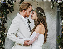 Rustic chapel elopement from Pinewood Weddings