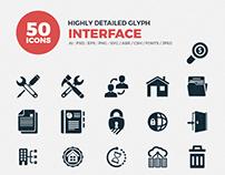 JI-Glyph Interface Icon Set