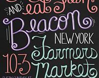 Beacon, New York Farmer's Market Poster