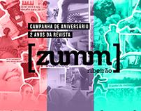 Campanha de aniversário Revista Zumm 2 anos