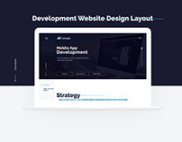 Mobile App Development Website Layout Design