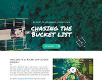Mockup and development. chasingthebucketlist.com