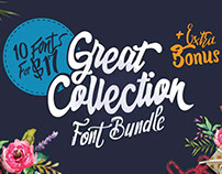 Collection of 10 Unique Fonts