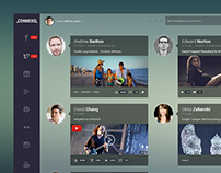 Glassy & clean dashboard look for social media app