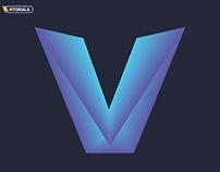 Create V logo in with blend tool in Adobe Illustrator