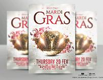Mardi Gras flyer template