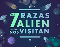 Las 7 razas alien que más nos visitan