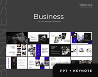 Business - template presentation POWERPOINT + KEYNOTE
