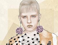 Prada SS 2016; illustration