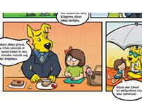 FundiMini webcomics & coloring sheets (for kids)