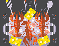 Crawfish Boil Illustration