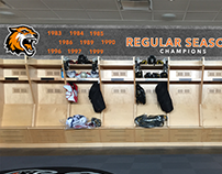 RIT Men's Hockey Locker Room - Wall Graphics
