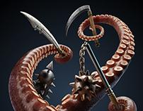 3D octopus (美人鱼之章鱼君)