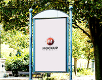 Free Artistic Outdoor Poster Billboard Mockup