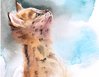 Watercolor Felines