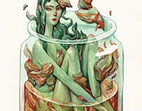 Kimchi - A4 watercolor piece
