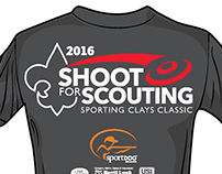 T-shirt layout for Client's Clay Shooting Event