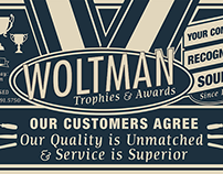 Window Vinyl Concept for Woltman Trophies & Awards