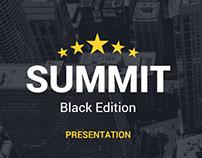 Summit Black Edition Powerpoint Template