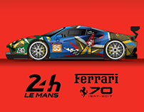 Personal work - Le Mans Ferrari livery 2017