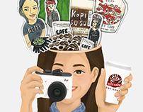 Print Ad / CITY CAFE 曼特寧咖啡探索家店頭海報