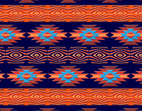 Southwestern ethnic navajo pattern