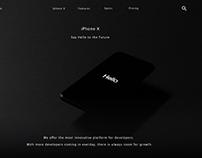 iPhone X Developer Landing Page Conversion Page Concept